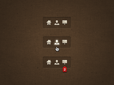 Bar glow bar menu icons ui mouseover notifications adobe fireworks