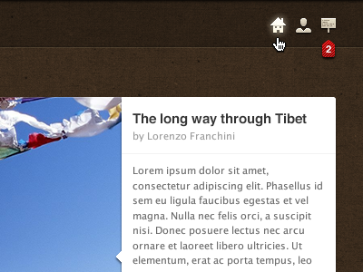 The long way through Tibet adobe fireworks ui menu icons home account notifications