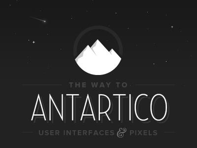 2013 antartico antarctica night stars black dark mountains snow ice logo brand adobe fireworks