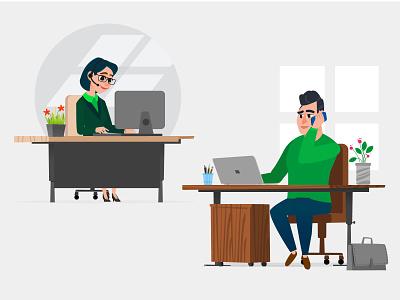 Help center digital illustration corporate design illustraion digital film animation 2d mograph motiongraphics illustrator design art 2d design