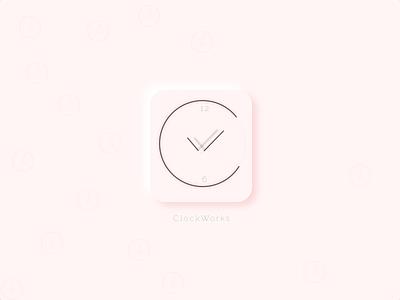 Icon clockworks design minimal icon clock dailyui