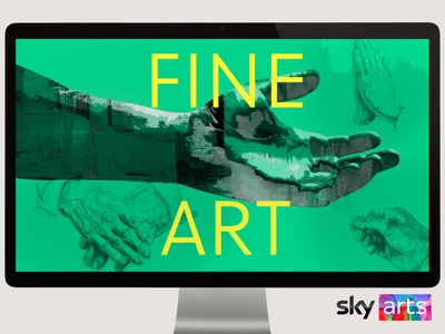 Inside Art title sequence for Sky Arts animated type identity break bumper title sequence