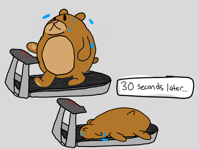 Blubber Bear and the Treadmill treadmill asher drawing asher animates illustration blubber bear