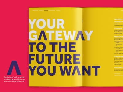 Gateways Annual Report tone of voice copywriting graphic brand print nonprofit charity third sector layout brochure magazine editorial annual report