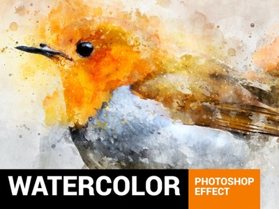 Perfectum 2 - Watercolor Artist Photoshop Action 2020 best amazing smart artistic sketch brush pencil watercolor modern fashion grunge photo art photoshop design branding graphic design animation