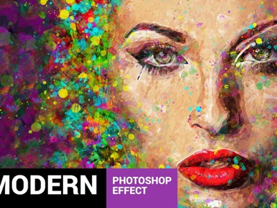 Acrylum - Modern Art Photoshop Action modern watercolor grunge logo graphic design vector photoshop photo illustrator illustration animation