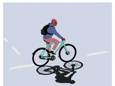 Wear a helmet van moofing fast on a bike. advertising branding design top dribbble illustrator illustration digital design cool design fashion dude cool streetwear bicycles street electric bike bikes bike vanmoof
