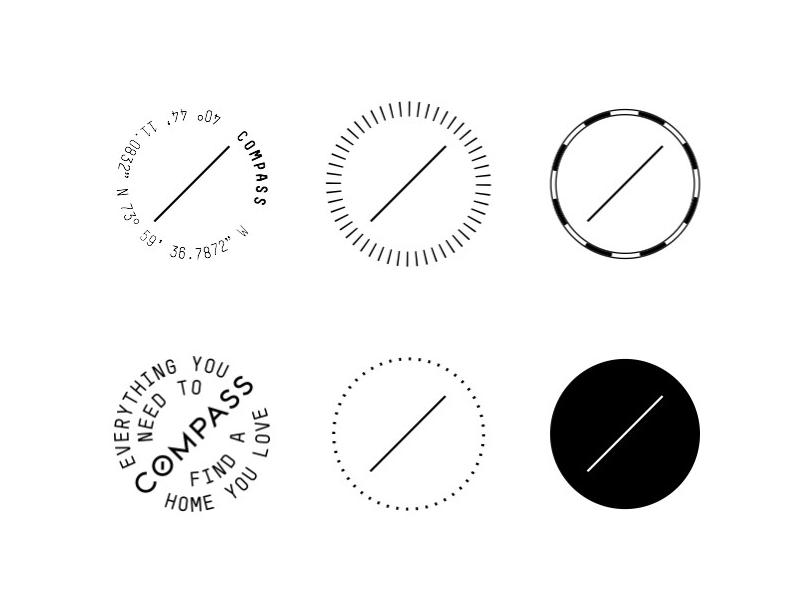 Compass Logos mark typography logo compass