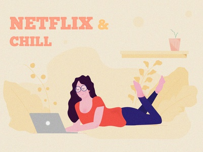 NETFLIX AND CHILL appdesign branding posterdesign graphic design aftereffects lockdown design vector minimal illustration