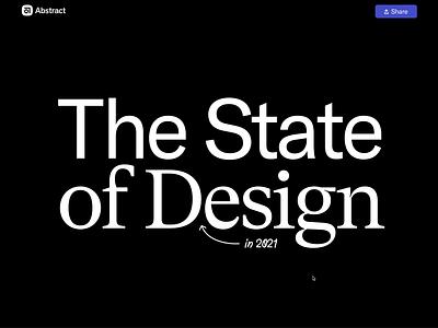 The State of Design state of design designers marketing landing page productdesign product survey illustration dataviz data report design