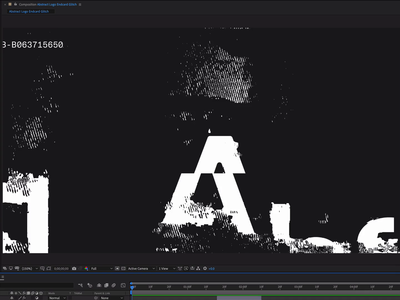 Abstract Logo Animation static black and white animation glitch logo abstract