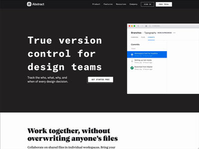 True version control for design teams history commit type teams design product design animation abstract