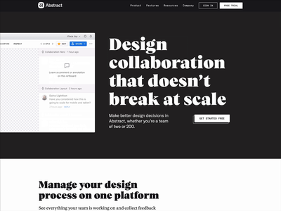 Design collaboration that doesn't break at scale type teams ui comment collaboration product design design animation abstract