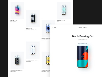 CRAFTWORKS - Grid exploration whitespace typography shop store layout grid layout beer craft beer minimal clean grid