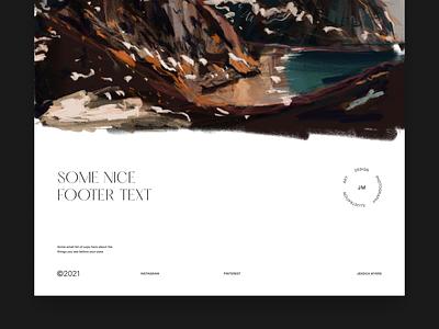 Jessica Myers - Portfolio for Artist & Designer webdesign web design typography grid whitespace art artist footer