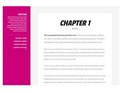 100YSS typography copy navigation minimal novel sci-fi scifi theme blogger website blog