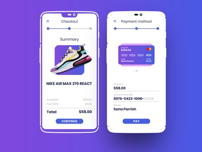Daily UI 002 checkout dailyui 002 dailyui app design ui