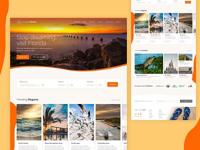 Florida Dreams Travel Website blog business website webdesign hotels destinations booking vacation travel florida