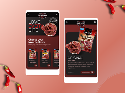 Beef Jerky Mobile Site product page ecommerce shop food webdesign mobile jerky beef jerky