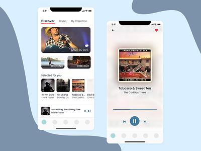 DailyUI #009   Music Player audio player music player design mobile podcast radio streaming audio player music 009 dailyui