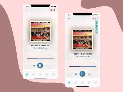 DailyUI #010   Social Share mobile button social button player music player music 010
