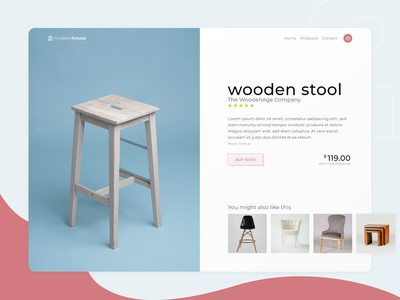 DailyUI #012   E-Commerce Shop Product Page furniture design business online shop product page product e-commerce shop 012 dailyui webdesign