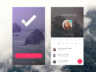 Login & Home Screen ui ux invision app prototyping iphone material gif ae animation mobile login