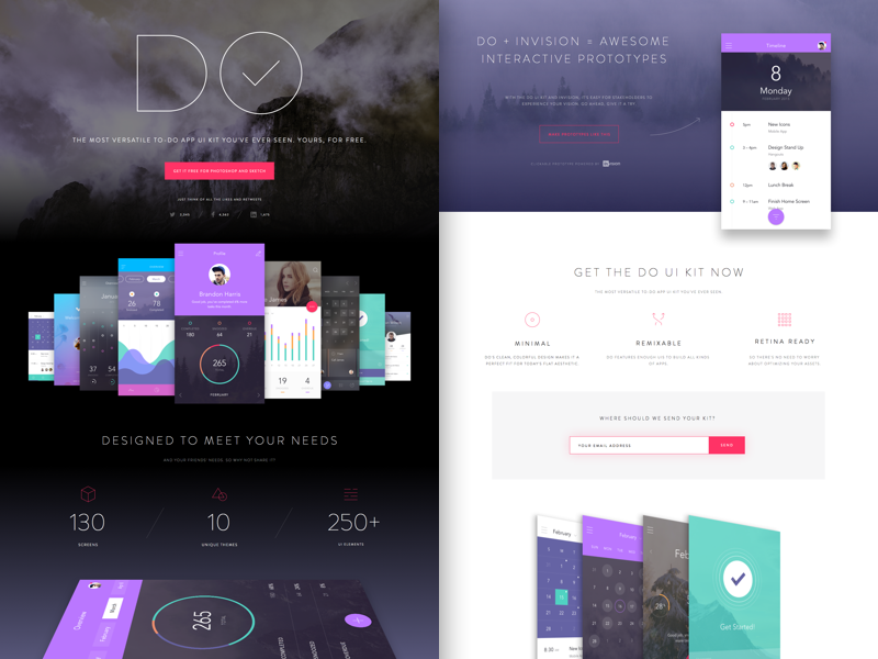 Get DO UI Kit for Photoshop & Sketch
