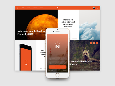 Web & Mobile View publication magazine news clean mobile iphone web prototyping app invision ux ui