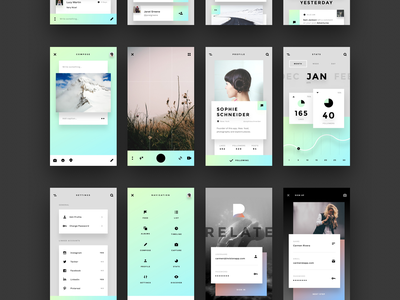 Introducing Relate, a beautifully modern UI kit from InVision ux sketch prototyping photoshop mobile iphone invision free kit ui relate app