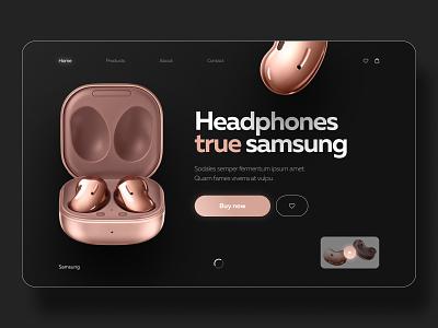 Samsung Headphones Concept animation samsung headphones web-design