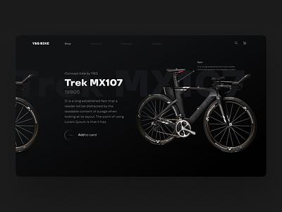 Bike Concept web-design cycling