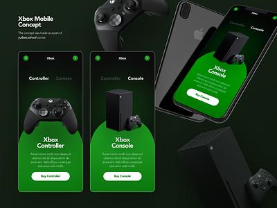 Xbox Mobile Concept mobile design xbox web-design