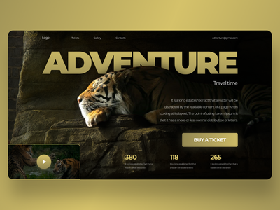 Adventure Concept adventure web-design
