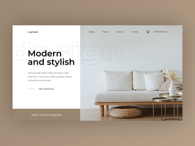 Furniture Concept furniture figma web-design