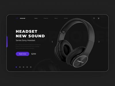 Headphones Concept headphones figma web-design