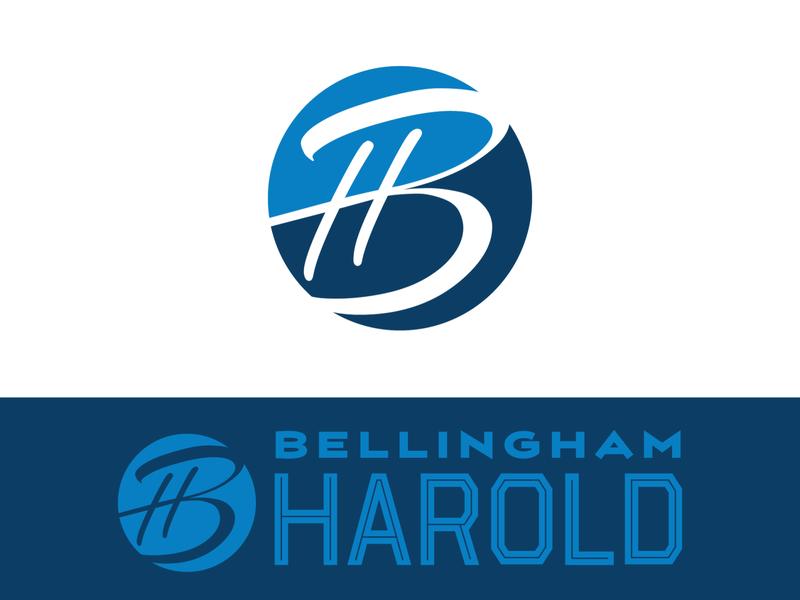 Bellingham Harold news herald whatcom county bellingham editorial newspaper lettermark branding logodesign