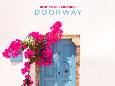 D O O R W A Y photoshop floral cover art photography electro pop pop music single album art
