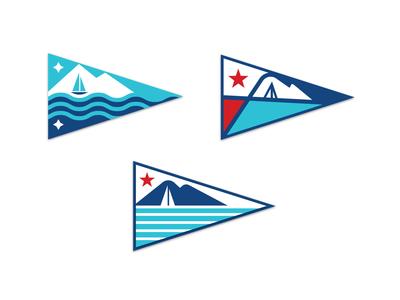 Yacht Club Burgees pnw pacific northwest washington bellingham schooner sailboat puget sound mt. baker yacht flag yacht club burgee triangle flag boat flag flag design