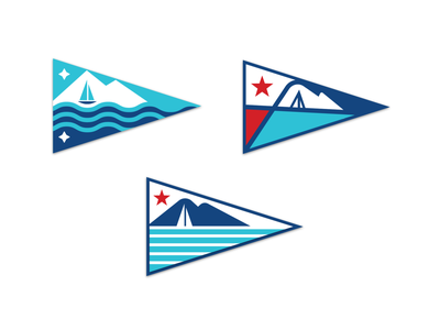 Yacht Club Burgees pnw pacific northwest washington bellingham schooner sailboat puget sound mt. baker yacht flag yacht club burgee triangle flag boat flag flag design