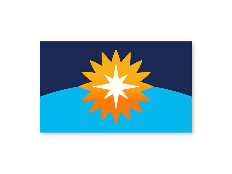 Earth Flag solar system planet compass vexillology flag design north star stars sun blue planet earth flag