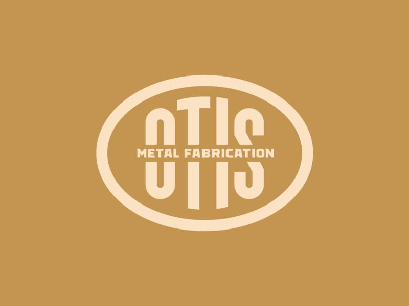 OTIS cattle rancher montana missoula simple clean interface simple classic steel iron metallic welding branding iron typographic oval logodesign graphicdesign brand logo