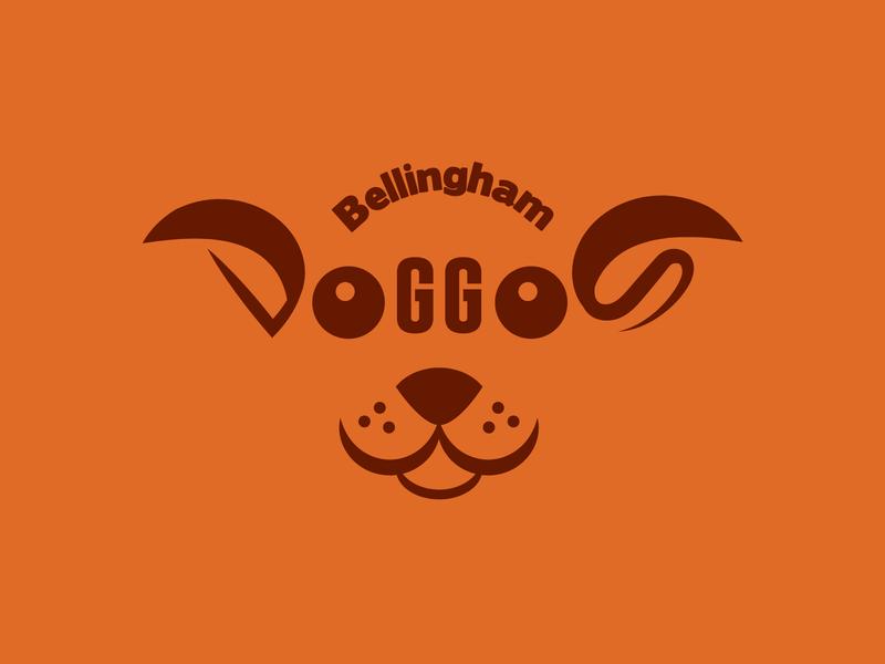 Bellingham Doggos cute dog funny logo logodesign logo typography dog face bellingham dog walking dog