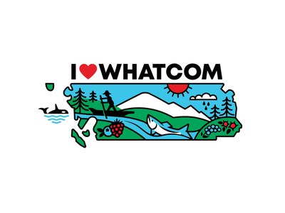 I ❤ Whatcom canoe salish native american blueberry raspberry oregon grape thimble berry salish sea puget sound nooksack cascades mt. baker berries salmon orca pacific northwest pnw washington state bellingham whatcom county