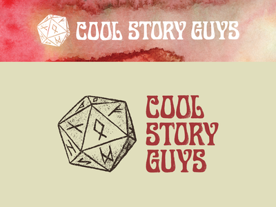 Cool Story Guys tolkien logo design gerald gallo display art three science fiction fantasy dungeons and dragons d20 art nouveau