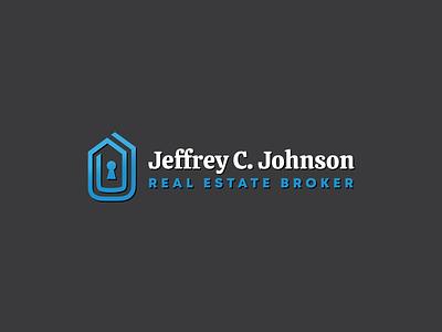 Real Estate Logo vector clean modern logo modern design sales geometric keyhole serif modern real estate branding brad house logo house home realtor broker real estate