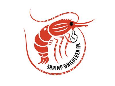 The Shrimp Whisperer illustrator fishing alaska sea creature seafood vector ddc hardware design logo illustration crustacean shrimp