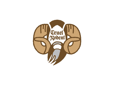 Tim The Enchanter terry gilliam flying circus john cleese blackletter rams horns medieval thick lines beard logo holy grail monty python