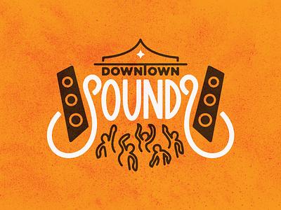 SOUNDƧ sound speakers custom type typography type dancing entertainment arts washington bellingham event festival music logo sounds