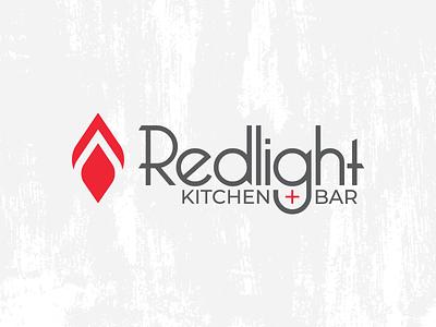 Redlight Kitchen + Bar bellingham fire geometric flame crips sharp light thin modern type montserrat fine dining branding bar restaurant lounge cocktail rebrand brand bellerose light